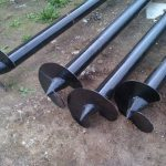 Винтовые сваи диаметром 57 мм и их применение